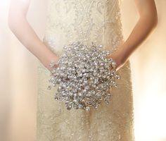 mirrored bead bouquet