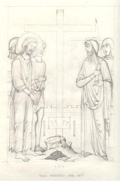 Via Crucis - loscriptorium san sisto - Picasa Albums Web Religious Images, Religious Icons, Religious Art, Paint Icon, Byzantine Icons, Watercolor Sketch, Orthodox Icons, Sacred Art, Christian Art