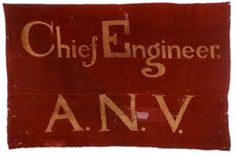 Headquarters flag of Chief Engineers A.N.V.