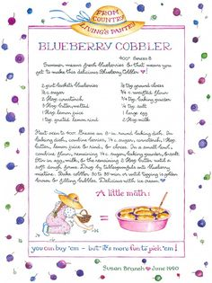 Blueberry Cobbler from Susan Branch