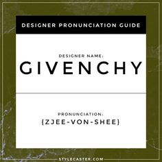 how to pronounce designer names