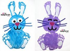 Paper Plate Hand and Foot Print Easter ARt