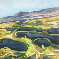 Salt Lake City original acrylic landscape by LetsAllMakeBelieve