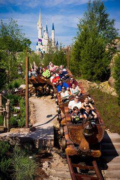 the Seven Dwarfs Mine Train at WDW's Magic Kingdom
