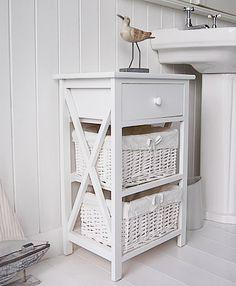New Haven Free Standing Bathroom Cabinet White Storage Furniture