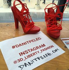 3D printed shoes by @3d_liberty_fashion Danit Peleg. Part of her awesome 3D printed fashion collection. #DanitPeleg #fashion #makerfaire #technology #3dprinting #shoes by michael_a_parker