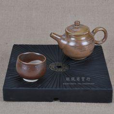 Stone tea tray with drain
