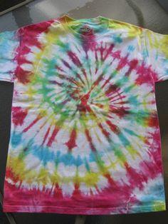 Tie dye shirt Large L (12-16)  Beefy Tee. $12.00, via Etsy.
