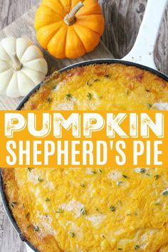 Pumpkin Shepherd's Pie - Foodtastic Mom - Pumpkin Shepherd's Pie Fall Dinner Recipes, Thanksgiving Recipes, Fall Recipes, Turkey Recipes, Beef Recipes, Vegetarian Recipes, Cooking Recipes, Healthy Recipes, Healthy Christmas Recipes