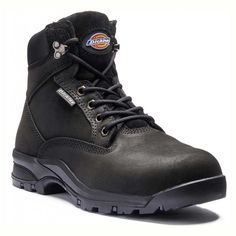 9a7235b214a Corbett black Leather Womens Safety Boots the Dickies style has a SRC slip  resistant rubber outsole and the upper is a Nubuck water resistant leather