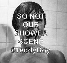 Sooooo NOT our shower scene...