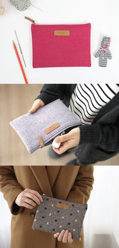 Store and organize your small items in this pouch with a padded compartment for added protection! The soft fabric and the warm color of the pouch are also another reason to fall in love with this pouch!
