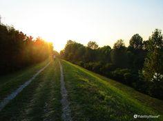 Le ombre si distendono lunghe lunghe a mano a mano che il sole scende sfiorando con i suoi raggi ogni cosa.