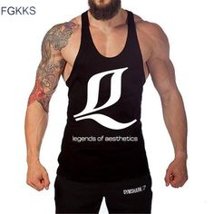 #BestPrice #Fashion FGKKS 2017 New Brand Men's Tanks Cotton Fashion Tank Tops Male Sleeveless Vests Casual Printed Gyms Tank Tops Men…