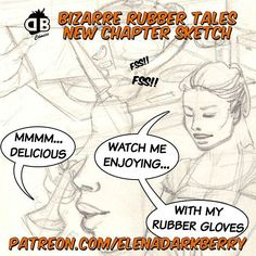 See an advance of the new chapter of Bizarre Rubber Tales on Patreon.  http://ift.tt/29Pxc8d  #tm #fb #tw #pn #sketch #concept #comicpage #comic #comicporn #patreon #pencil #housewife #fi Follow me on Instagram: @elenadarkberry