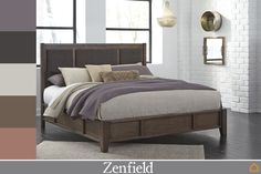Zenfield Queen Panel Bed by Ashley HomeStore, Medium Brown Stylish Bedroom, Modern Bedroom, Bedroom Bed, Bedroom Furniture, Master Bedroom, Furniture Ideas, Bedroom Ideas, Master Suite, Dreams Bed Frames
