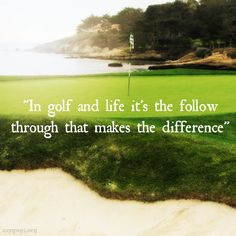 There are so many parallels between golf and life. #Golf #Quotes #Sports #Motivation #Love #Motivational #Life #Golfing