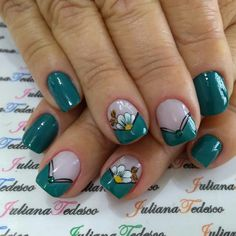 Pretty Hands, Toe Nails, Nail Designs, Blue Nails, Perfect Nails, Designed Nails, Stickers, Flower, Make Up