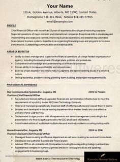 professional cfo resume sample executive resume writers http - Cfo Resume Sample