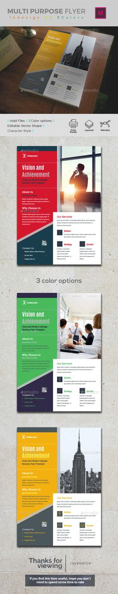 #Corporate #Indesign #Flyer - Corporate Flyers
