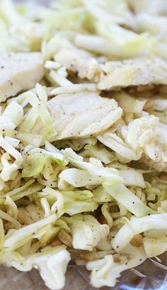 Ramen Noodle Cabbage Salad with Chicken