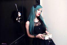 teal blue hair