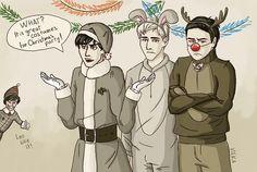 Heroes of Olympus Christmas part 2<<Jason's a random bunny XD