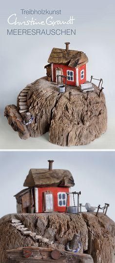 """Christine Grandt - Skulptur aus Treibholz: """"Meeresrauschen"""" #Miniaturen #Geschenkidee #Treibholz"""