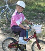 """Kids' Bike Sizing Guide  Mwende's measurements: Height: 47.5"""" Inseam 21.25"""" Torso length 37"""" Arm length 16.5""""  She would fit a 16"""" wheel diameter, but would grow out of it quickly. Ideal would be an 18"""" wheel diameter, but apparently, they're not commonly available. A 20"""" wheel diameter would be a touch on the big side, but I suspect that she would grow into it quickly."""
