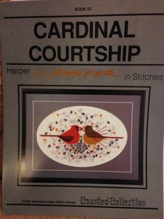 Charley Harper C Cardinal Courtship Cross Stitch Chart Artsy Late Artist Retired