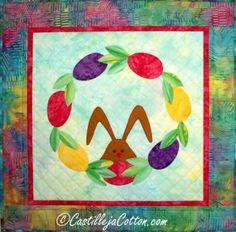 Easter Wreath Quilt ... by DianeMcGregor