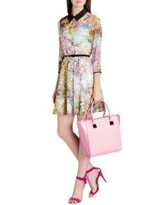 Pretty trees print dress - Dusky Pink | Dresses | Ted Baker... As seen on Demi Lovato.