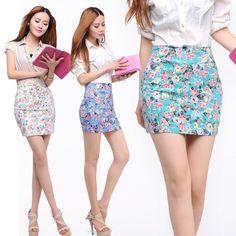 Flower Elastic Hip Skirt