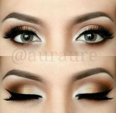 10 maquillages pour yeux verts