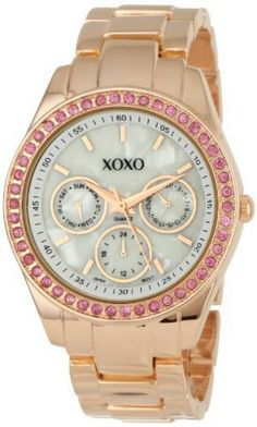XOXO Rose gold & pink. So feminine.