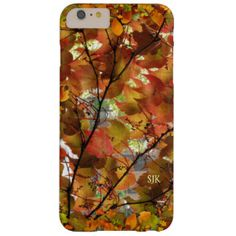 Autumn Leaves Design iPhone Case Barely There iPhone 6 Plus Case
