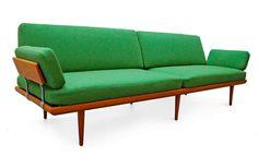 Sofa by Peter Hvidt & Orla Mølgaard Nielsen Minerva Teak 60's danish modern
