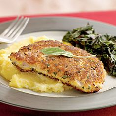 Parmesan and Sage-Crusted Pork Chops | MyRecipes.com #myplate #protein