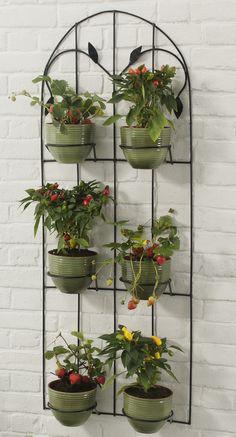 Make a metal vertical garden Balcony Plants, House Plants Decor, Plant Decor, Indoor Plants, Garden Plant Stand, Diy Plant Stand, Plant Stands, Flower Stands, Flower Boxes