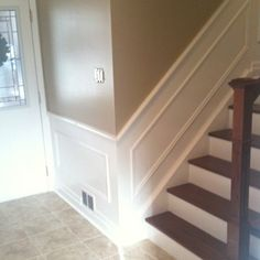 I like the molding on the wall and the look of the stairs