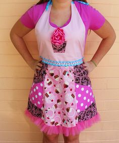 Party Cupcake Hostess Apron by WildOliveKids on Etsy, $40.00