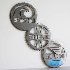 Swim Bike Run, tattoo idea Triathlon Humor, Triathlon Tattoo, Ironman Triathlon, Race Training, Triathlon Training, Sports Training, Custom Trophies, Triathalon, Running Race