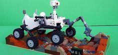 Stephen Pakbaz has been working on a Lego scale model replica of the Mars Curiosity rover, currently on its way to the red planet aboard the Mars Science Laboratory (MSL). Curiosity Mars, Curiosity Rover, Nasa Engineer, Lego Robot, Robots, Best Educational Toys, Lego Mindstorms, Lego Brick, Lego Creations