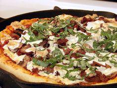 Cast Iron Skillet Deep Dish Pizza.