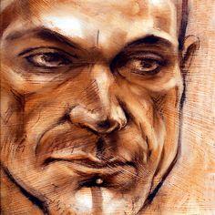 Michel - portrait in conte pencil and pastel