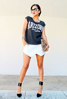"""Are you familiar with the words """"Skort""""? The skort is the most popular trend at the moment, which refers to a pair of shorts with a fabric looking like a skirt in the front. Women like wearing skirts on hot days and they are really attractive. However, wearing a skirt is somewhat inconvenient from time[Read the Rest]"""