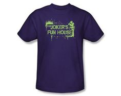 Batman Arkham City Joker's Fun House T-Shirt Batman Arkham City, Purple T Shirts, Home Goods, Joker, Fun House, Mens Tops, Shopping, Black, Black People