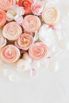 Rose petal cupcakes by LaurenConrad.com