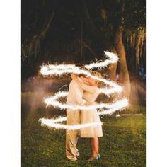 A Romantic Sparkler Shot