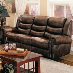 small leather sectional sofas with recliners